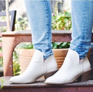 Women's White Indie Heeled Booties